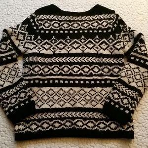 Vintage Eddie Bauer Medium Knit Geo Wool Sweater